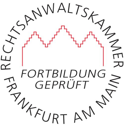 Fortbildung geprüft - Rechtsanwaltskammer Frankfurt am Main